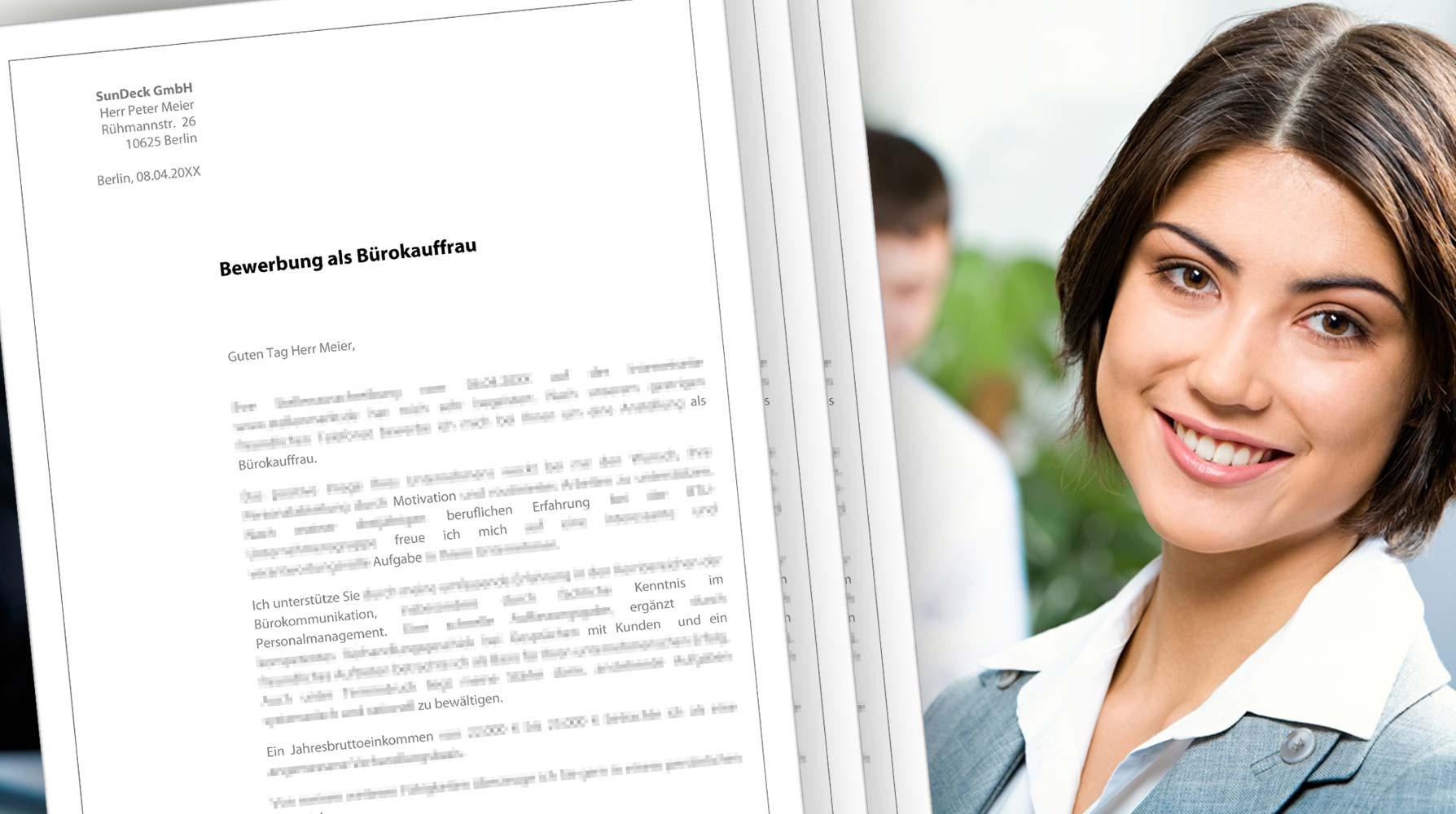 Bewerbung Bürokauffrau