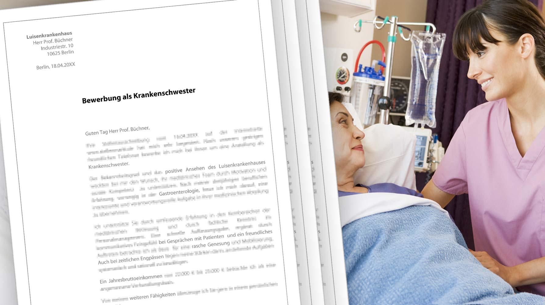 Bewerbung Krankenschwester   Medizinische Fachangestellte