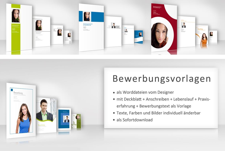 Designbewerbung Download fertige Bewerbung Vorlage Wordvorlage