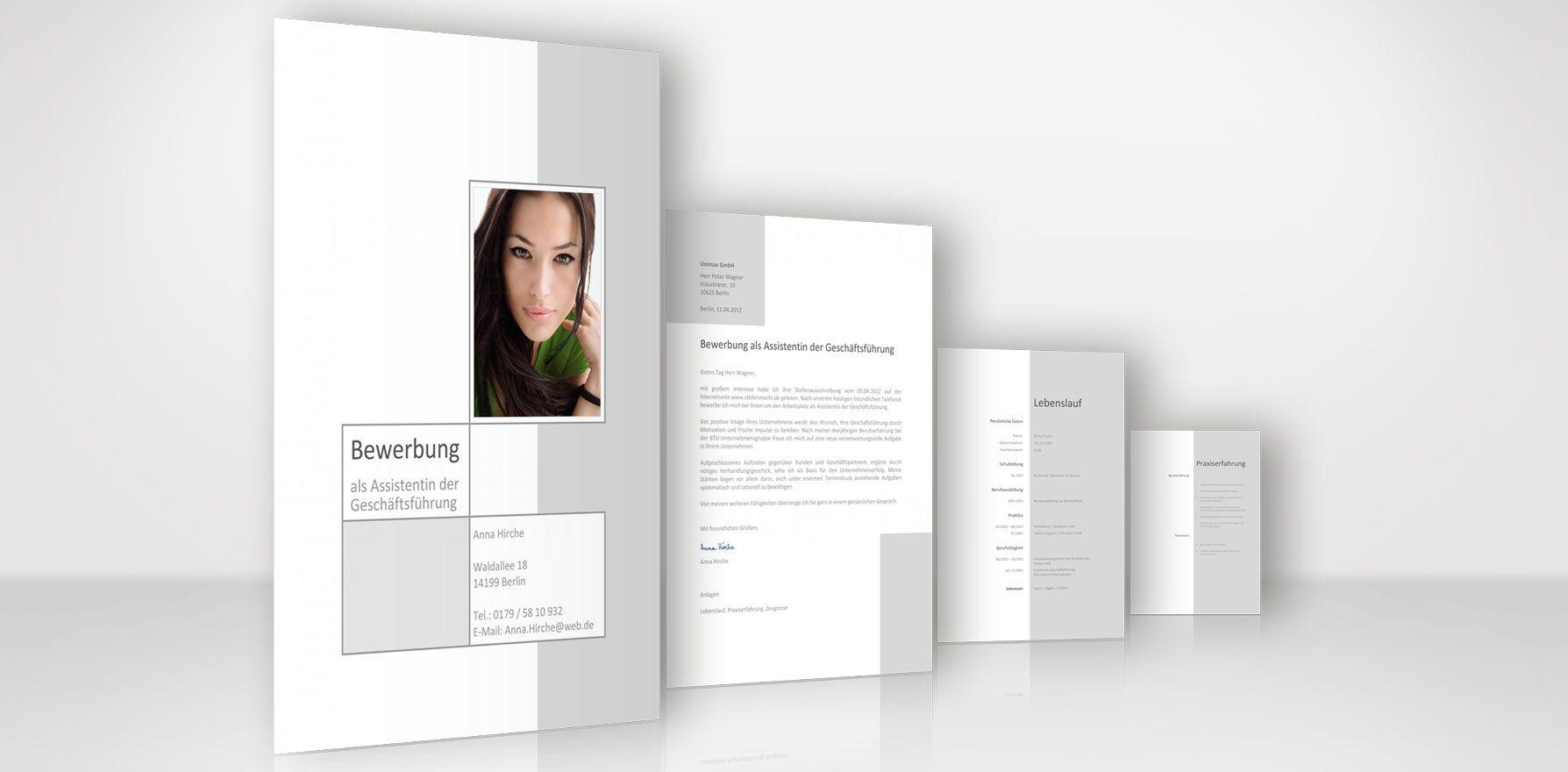 Bewerbung Design Mit Anschreiben Lebenslauf